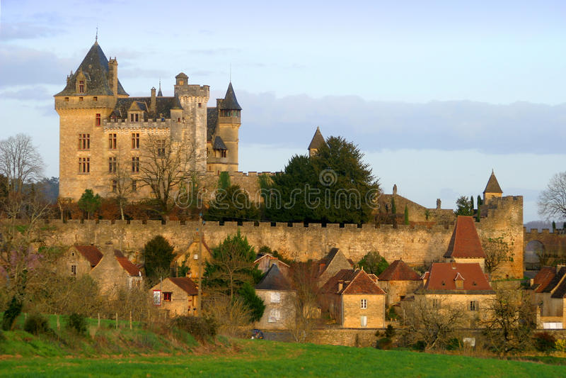 Montfort Castle in Dordogne France royalty free stock photos