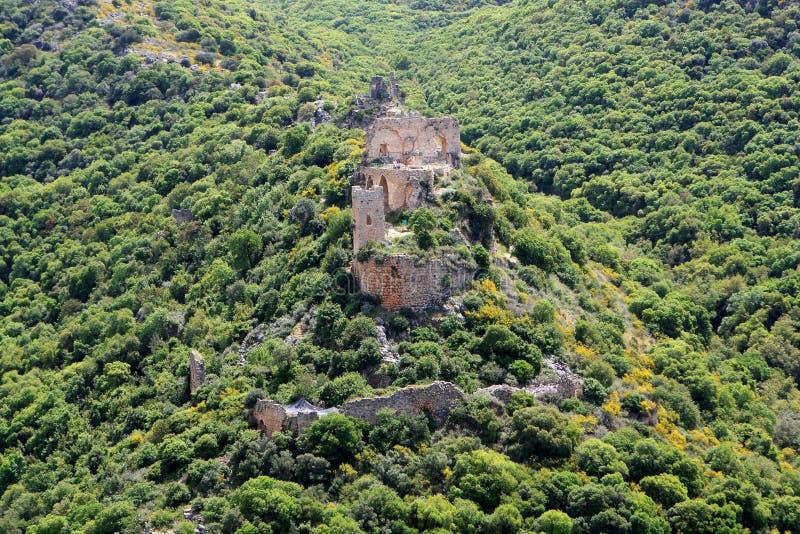 Montfort Schloss, Israel stockbilder