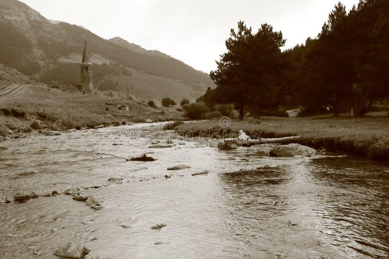 Montgarri Vall D ` Aran arkivfoto