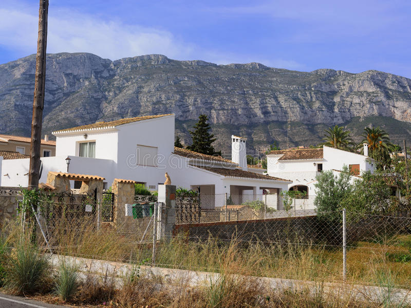 Montgo in Denia. Spanish Landscape. Views of Mount Montgo in Denia royalty free stock photo