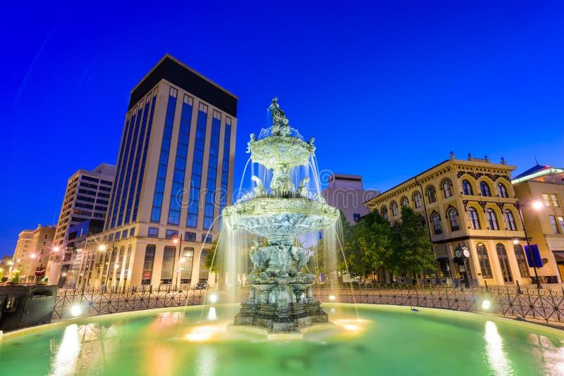 Montgomery Alabama Fountain lizenzfreies stockfoto