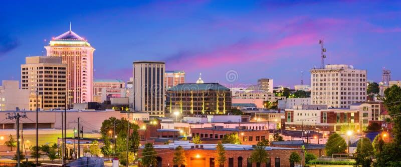 Montgomery Alabama Panorama lizenzfreie stockfotos