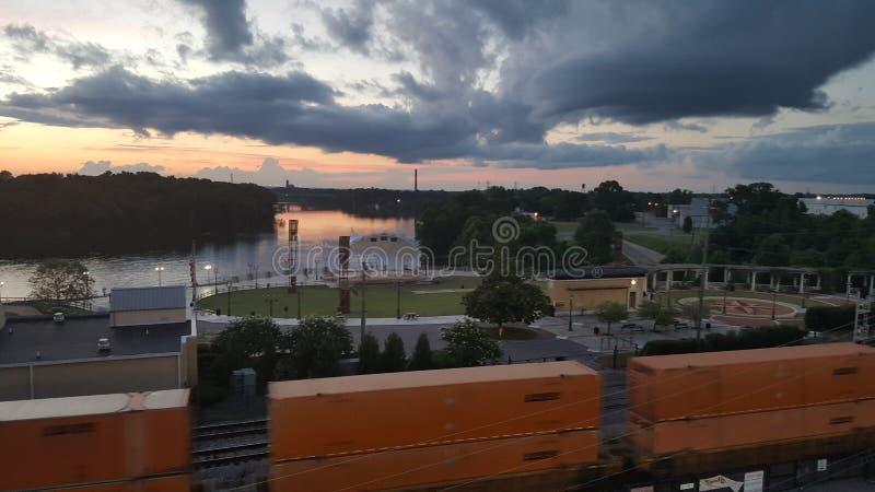 Montgomery Alabama River Walk royalty-vrije stock afbeelding
