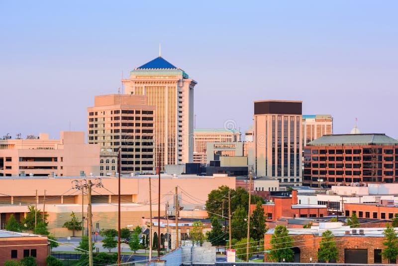 Montgomery Alabama Skyline lizenzfreies stockbild