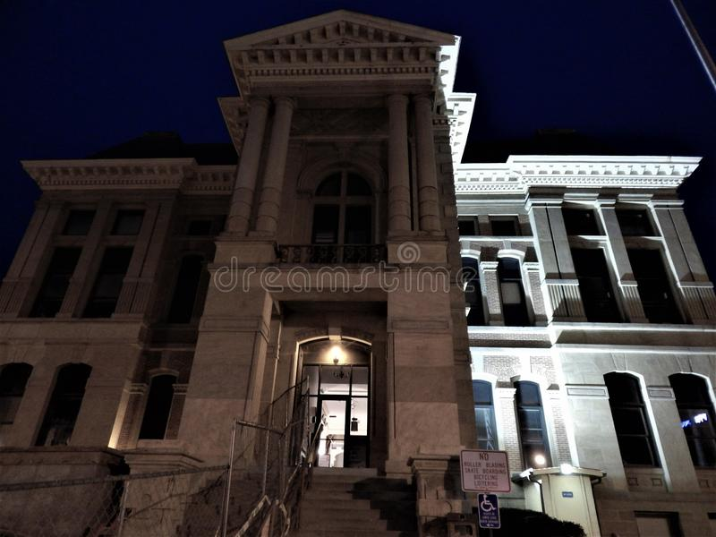 Montgomery County Courthouse Crawfordsville Indiana royaltyfri foto