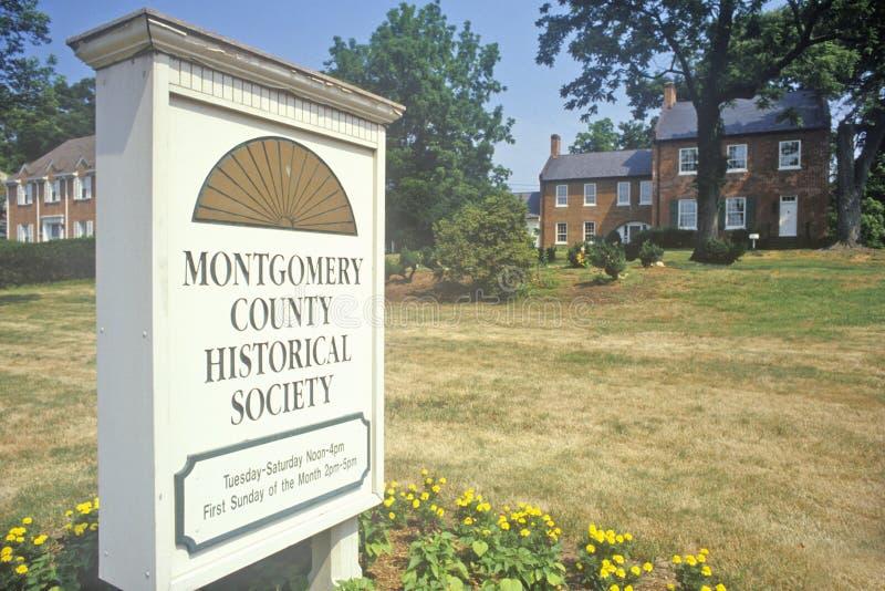 Montgomery County Historical Society, Maryland royalty-vrije stock afbeelding
