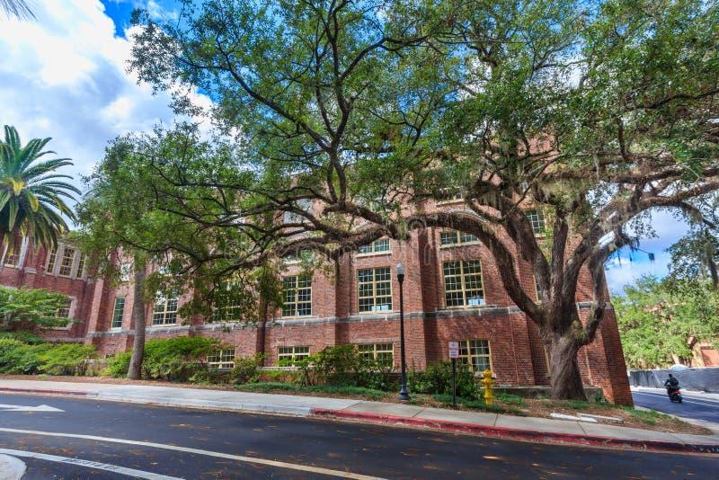 Montgomery Hall at Florida State University. TALLAHASSEE, FL, USA - SEPTEMBER 13: Montgomery Hall, School of Dance on September 13, 2016 at Florida State stock images