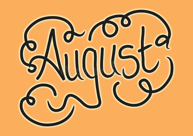 Month Of August Lettering Background For Header Or Wallpaper Use