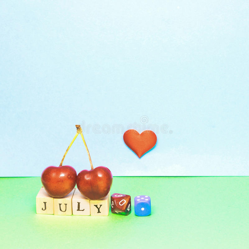 The month of July stock images