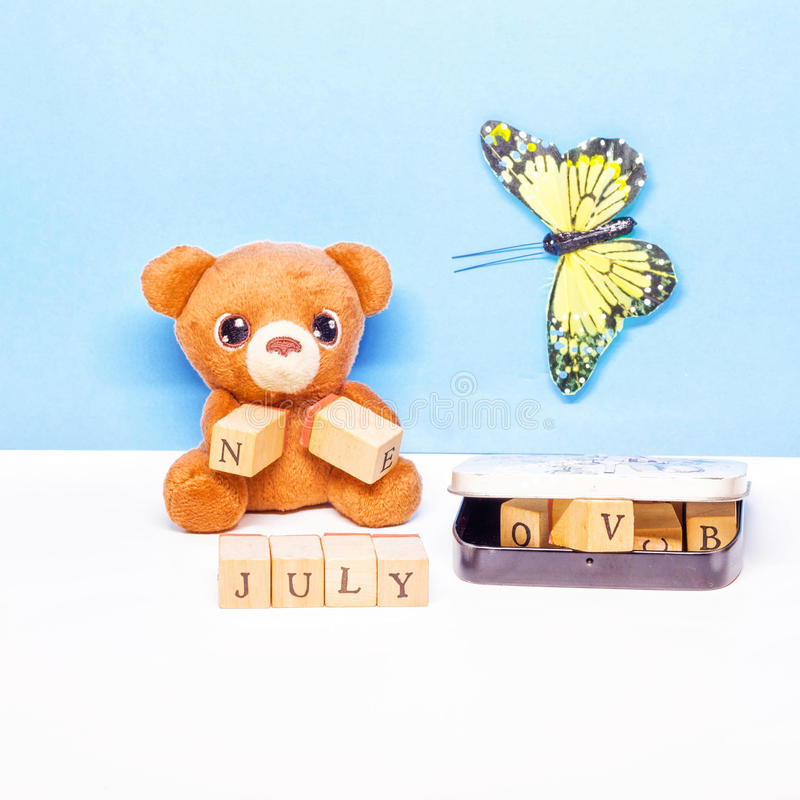 The month of July stock photography