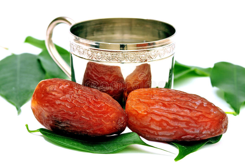 The month of Ramadan Muslims eat most palm royalty free stock image