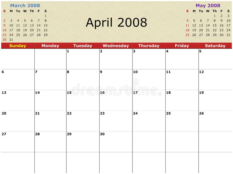 Download Monthly calendar stock illustration. Image of pattern - 3101389