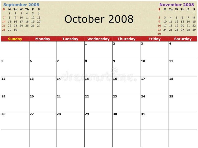 Download Monthly calendar stock illustration. Illustration of future - 3101401