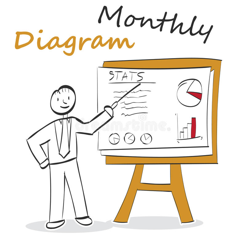 Monthly Diagram vector illustration