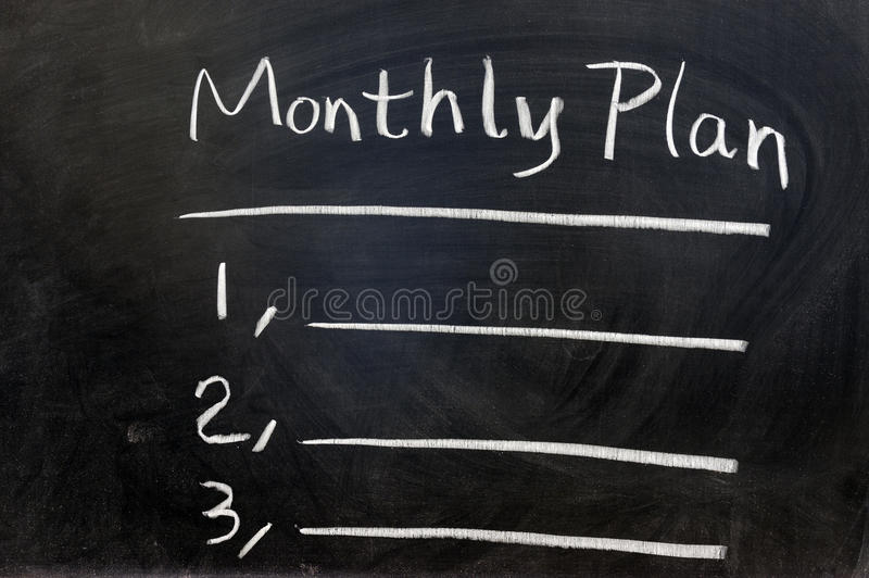 monthly plan zdjęcia royalty free