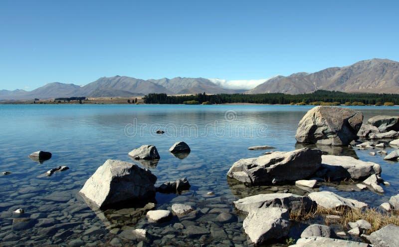 Monti il cuoco in Nuova Zelanda fotografie stock