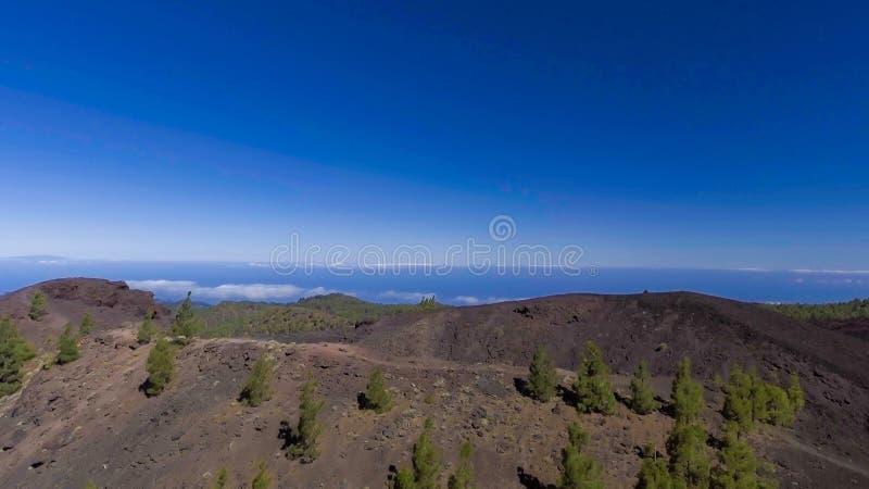Monti la vista aerea di Teide nell'isola di Tenerife, Spagna fotografia stock