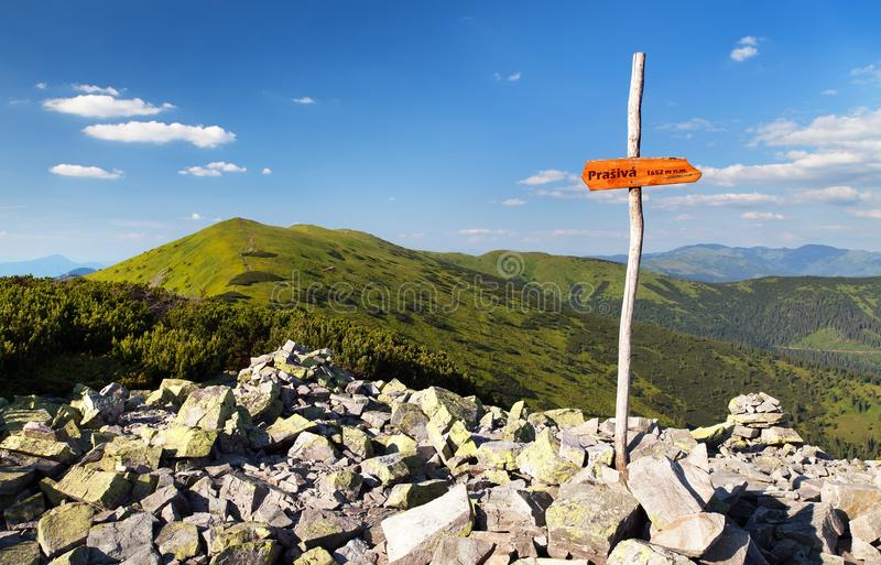 Monti Prasiva e monti Chochula in Nizke Tatry immagine stock