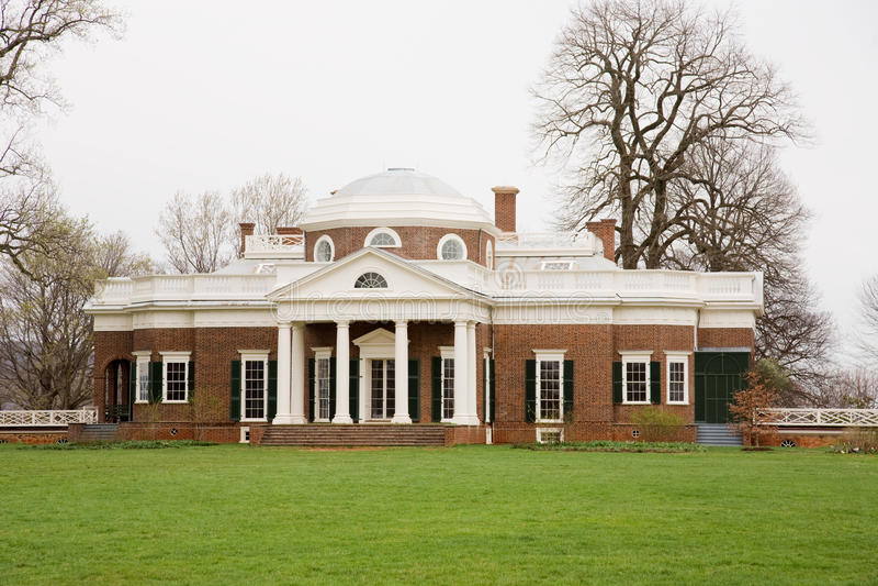 Monticello fotografie stock