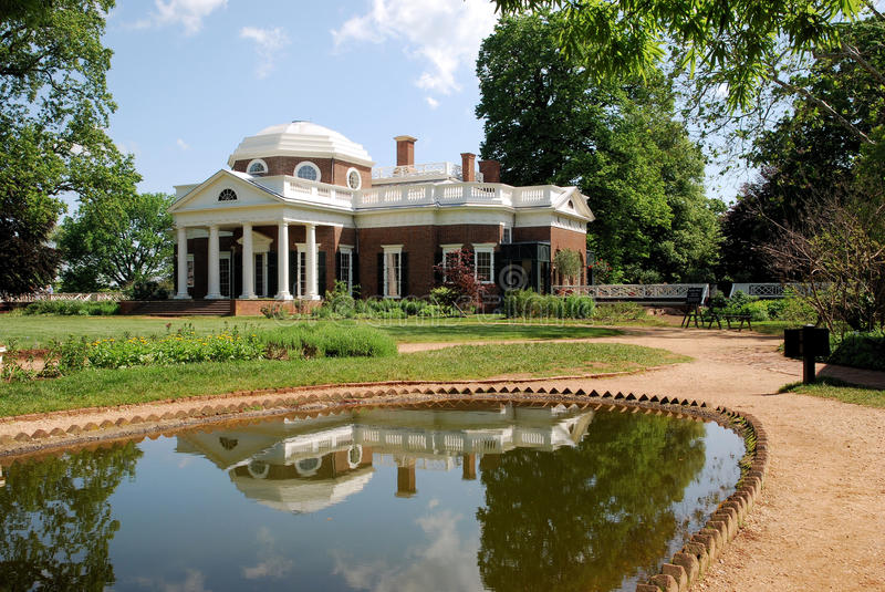 Monticello. The Monticello, home of Thomas Jefferson stock photography
