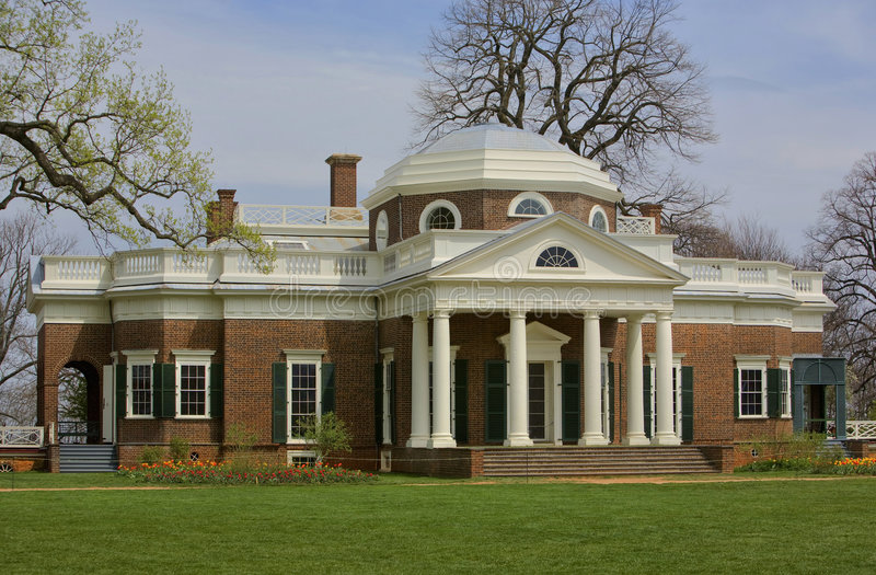 Monticello. Is the colonial home of Thomas Jefferson stock photography