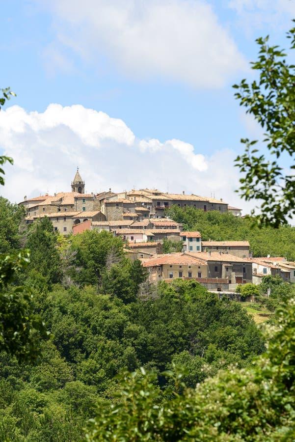 Monticello Amiata (Тоскана, Италия) стоковое фото
