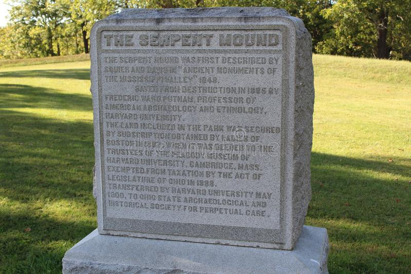 Monticello Ohio del serpente immagine stock libera da diritti