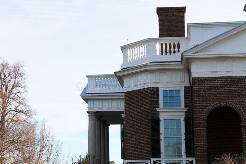 Monticello-Seite stockfoto