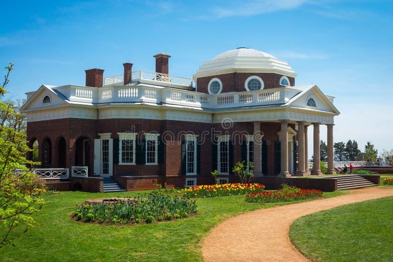Monticello - Thomas Jefferson & x27; casa di s fotografia stock