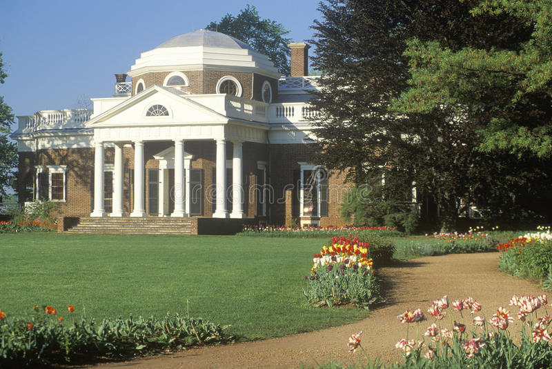 Monticello van Thomas Jefferson's, royalty-vrije stock afbeelding