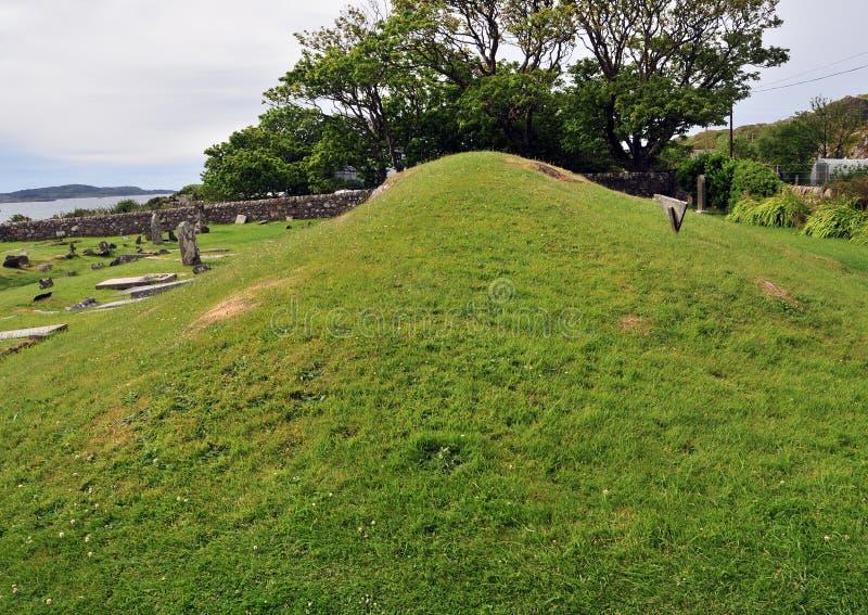 Monticule écossais du Roi enterrement d'Anicent images stock