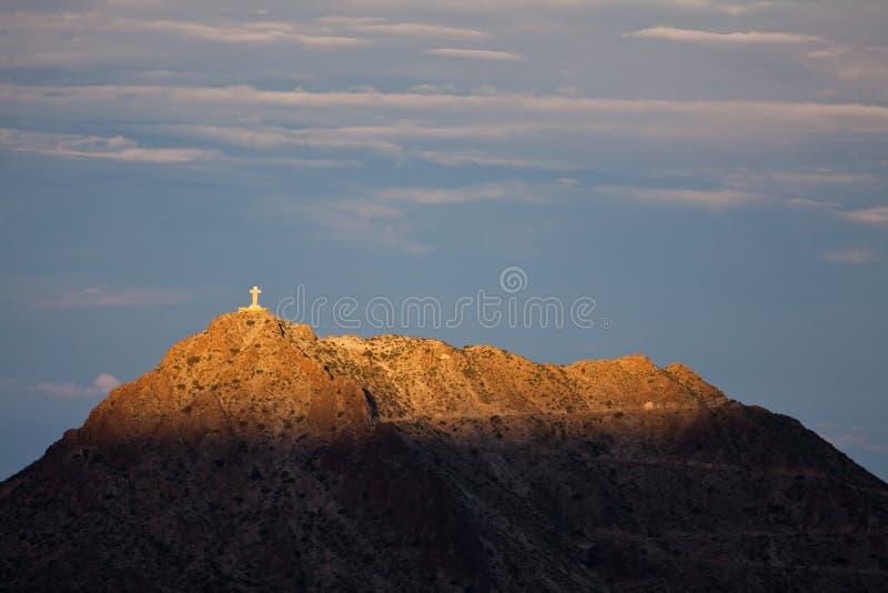 Montierung Cristo Rey lizenzfreies stockfoto