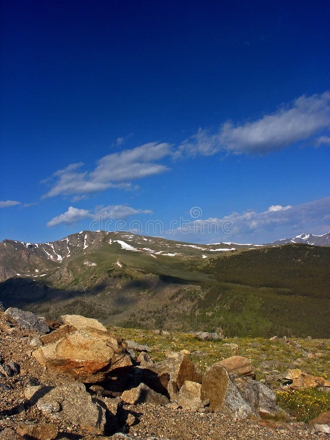 Montierung Evans in Kolorado stockbilder