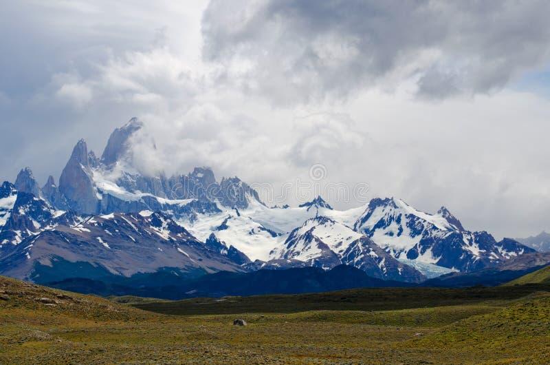 Montierung Fitz Roy, EL Chalten, Patagonia, Argentinien lizenzfreies stockbild