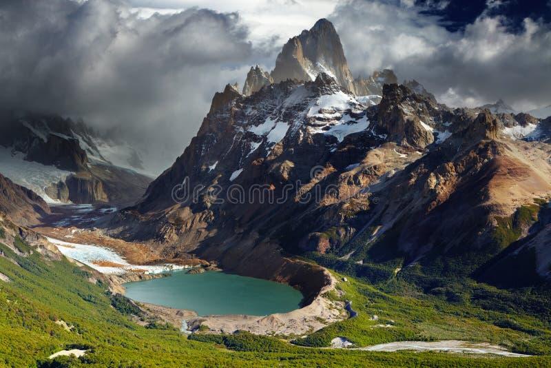 Montierung Fitz Roy, Patagonia, Argentinien stockbilder