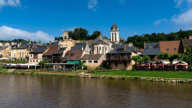 Montignac een stad in Périgord Noir stock foto