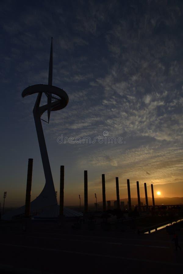 Montjuïc Teletechniczny wierza obrazy stock