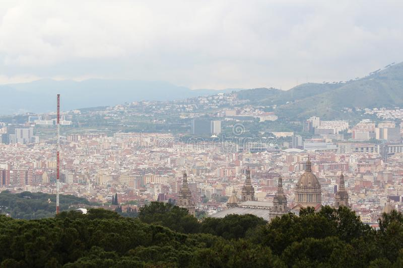 Download A Panoramic View Of Barcelona From Montjuic Stock Photo   Image Of  Catalunya, Military