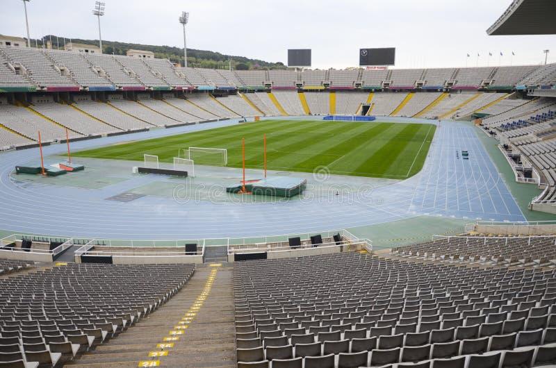 Montjuic奥林匹克体育场,巴塞罗那 图库摄影