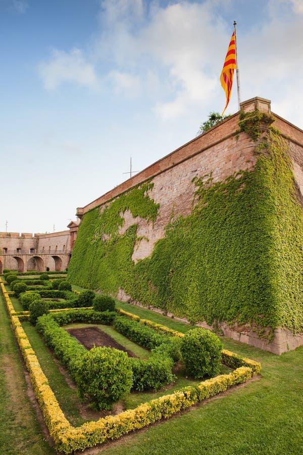 Montjuic Castle in Barcelona royalty free stock image