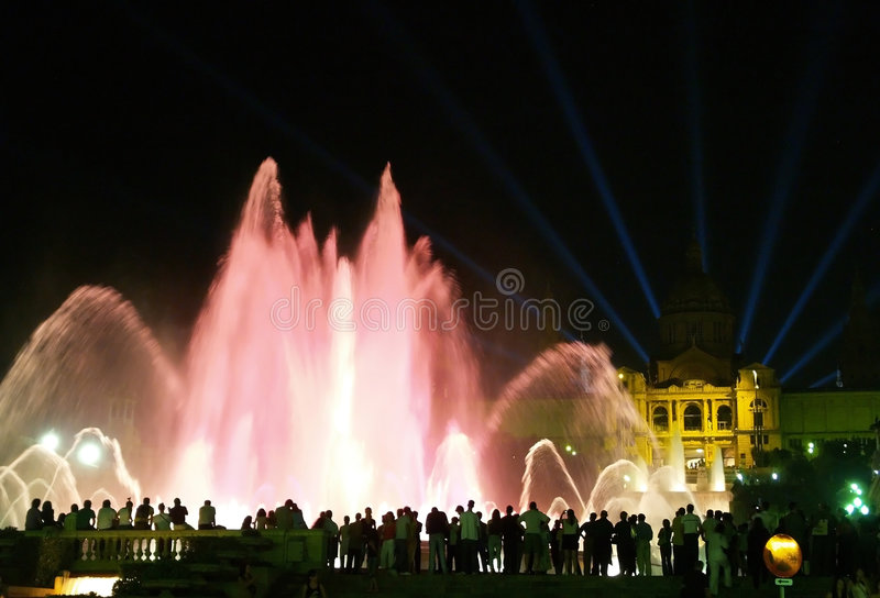 Download Montjuic (magic) Fountain In Barcelona #12 Royalty Free Stock Photos - Image: 1663008