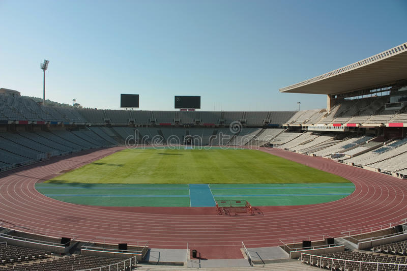 Download Montjuic Olympic stadium editorial photography. Image of color - 14542507