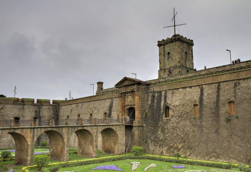 Montjuic Schloss stockfotos