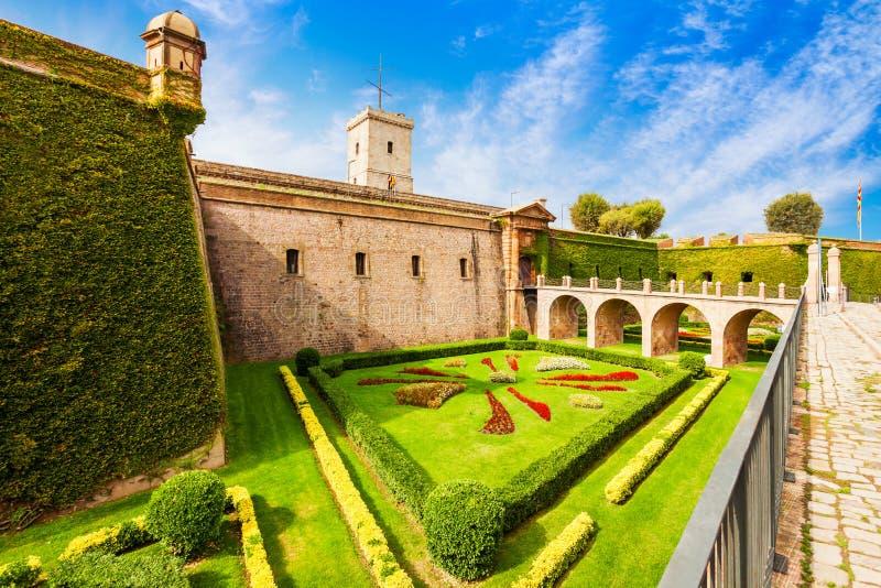 Montjuic-Schloss in Barcelona, Spanien lizenzfreies stockfoto