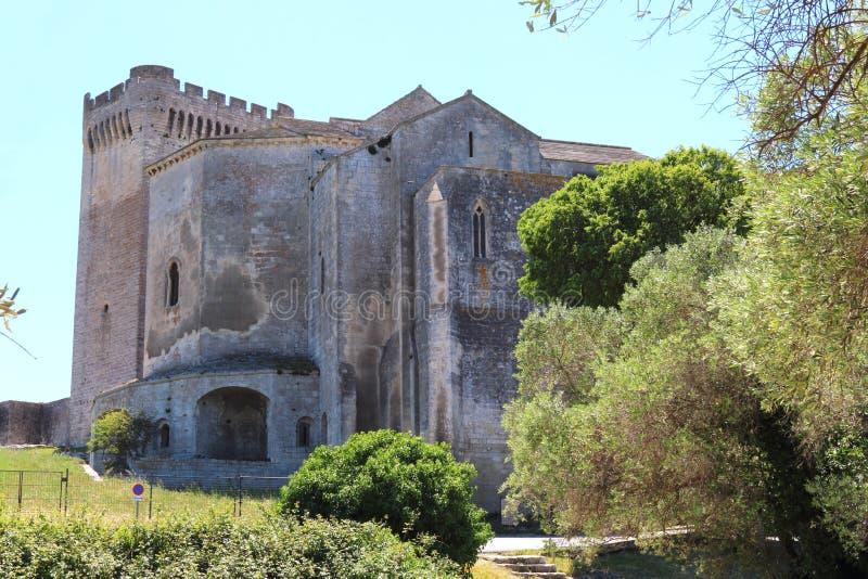 Montmajourabdij in de Provence, Frankrijk stock afbeeldingen