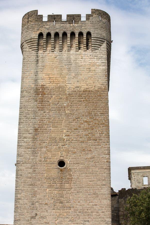 Montmajourabdij dichtbij Arles de Provence Frankrijk stock afbeelding