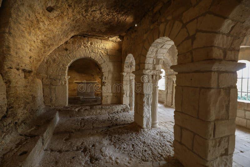 Montmajourabdij dichtbij Arles de Provence Frankrijk stock foto's