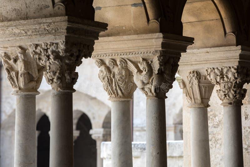 Montmajourabdij dichtbij Arles de Provence Frankrijk royalty-vrije stock afbeelding