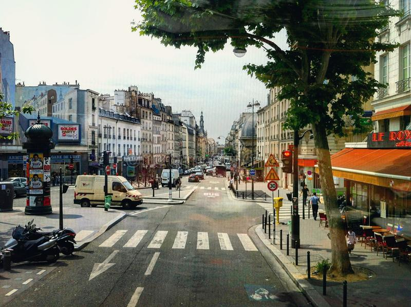 montmartre巴黎街道 库存照片