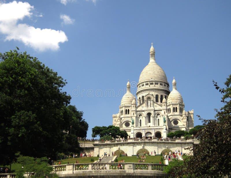 Montmartre in de zon royalty-vrije stock afbeelding